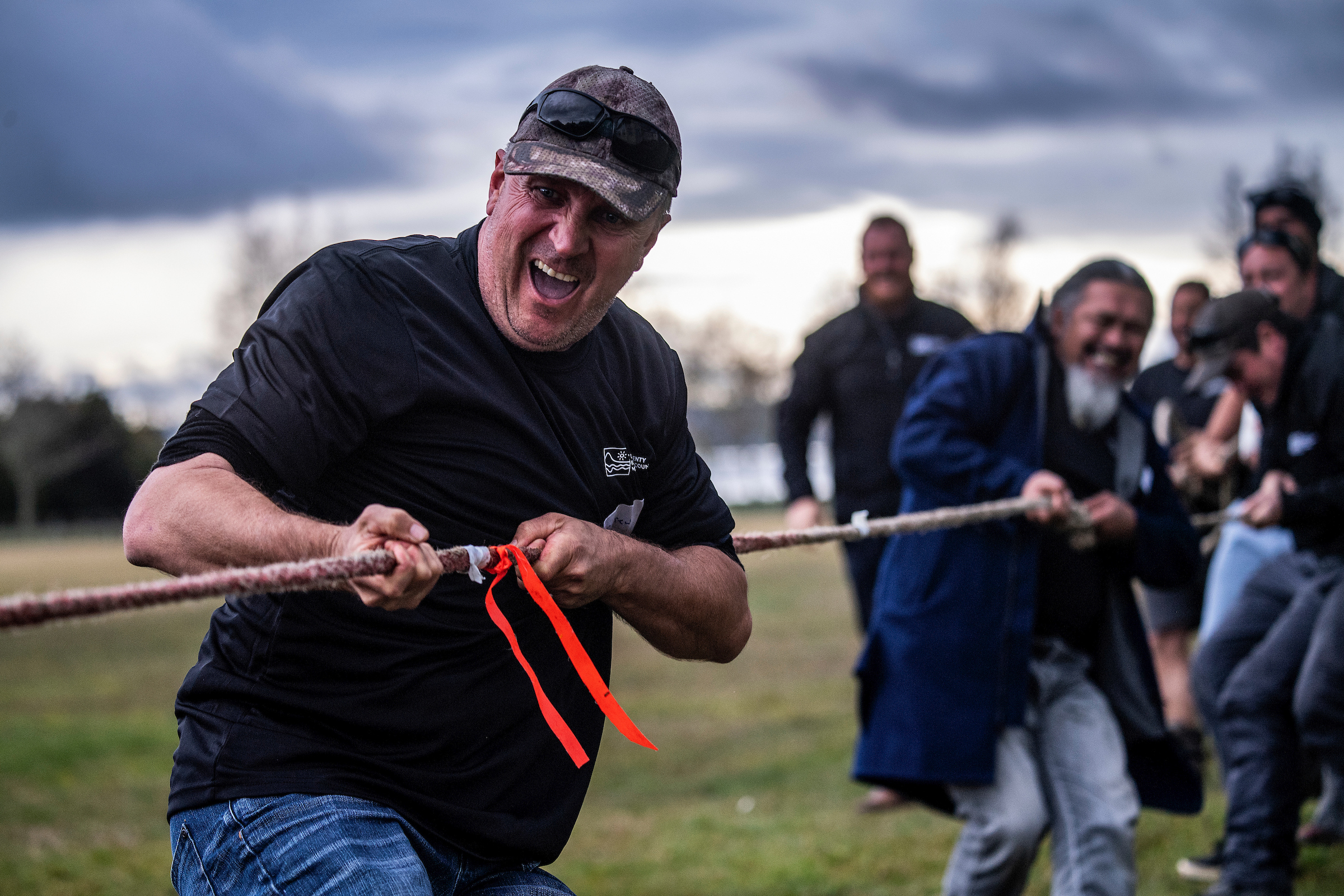 Bay of Plenty staff tug of war.