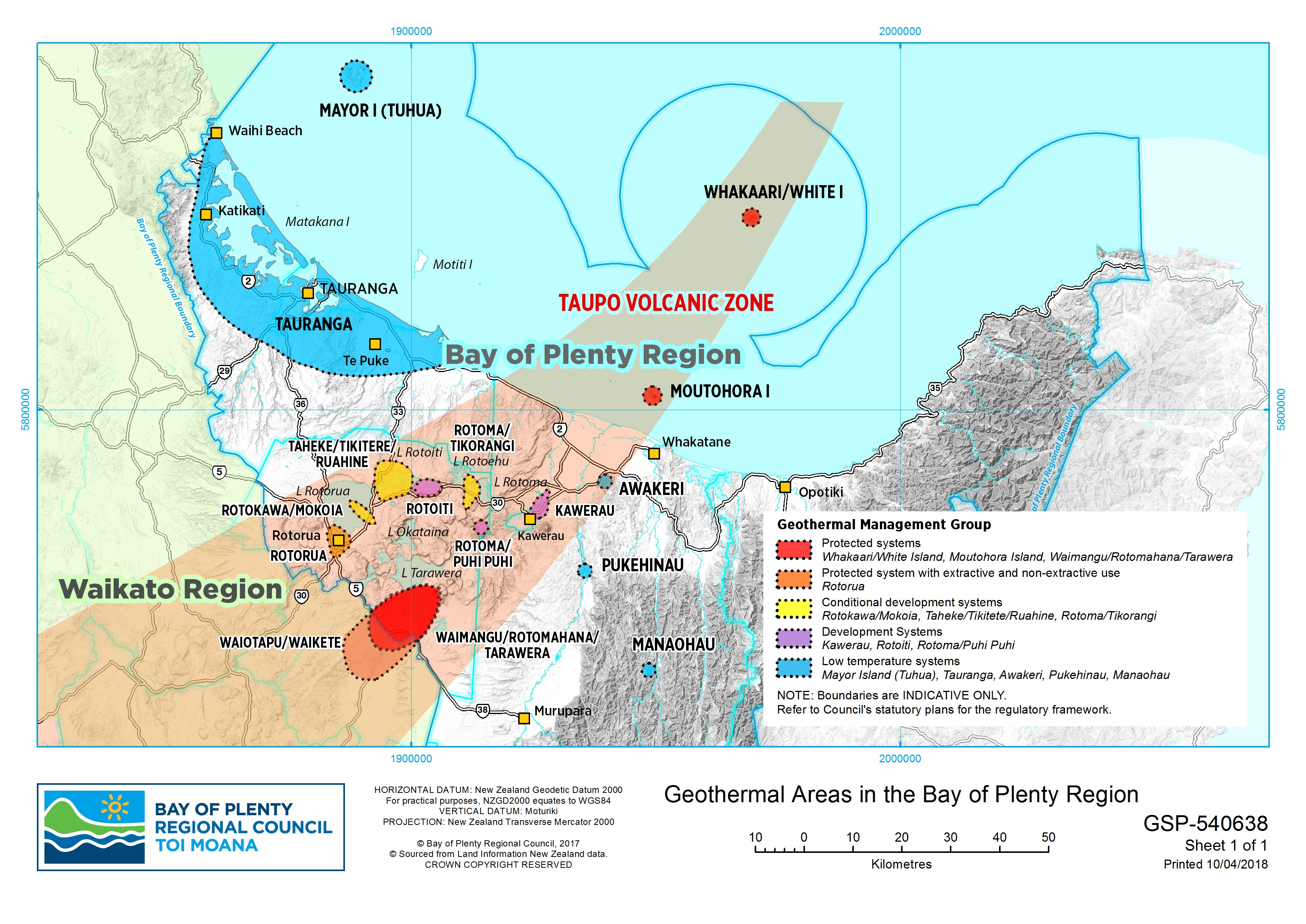 Map Of Rotorua New Zealand.Geothermal Bay Of Plenty Regional Council Toi Moana