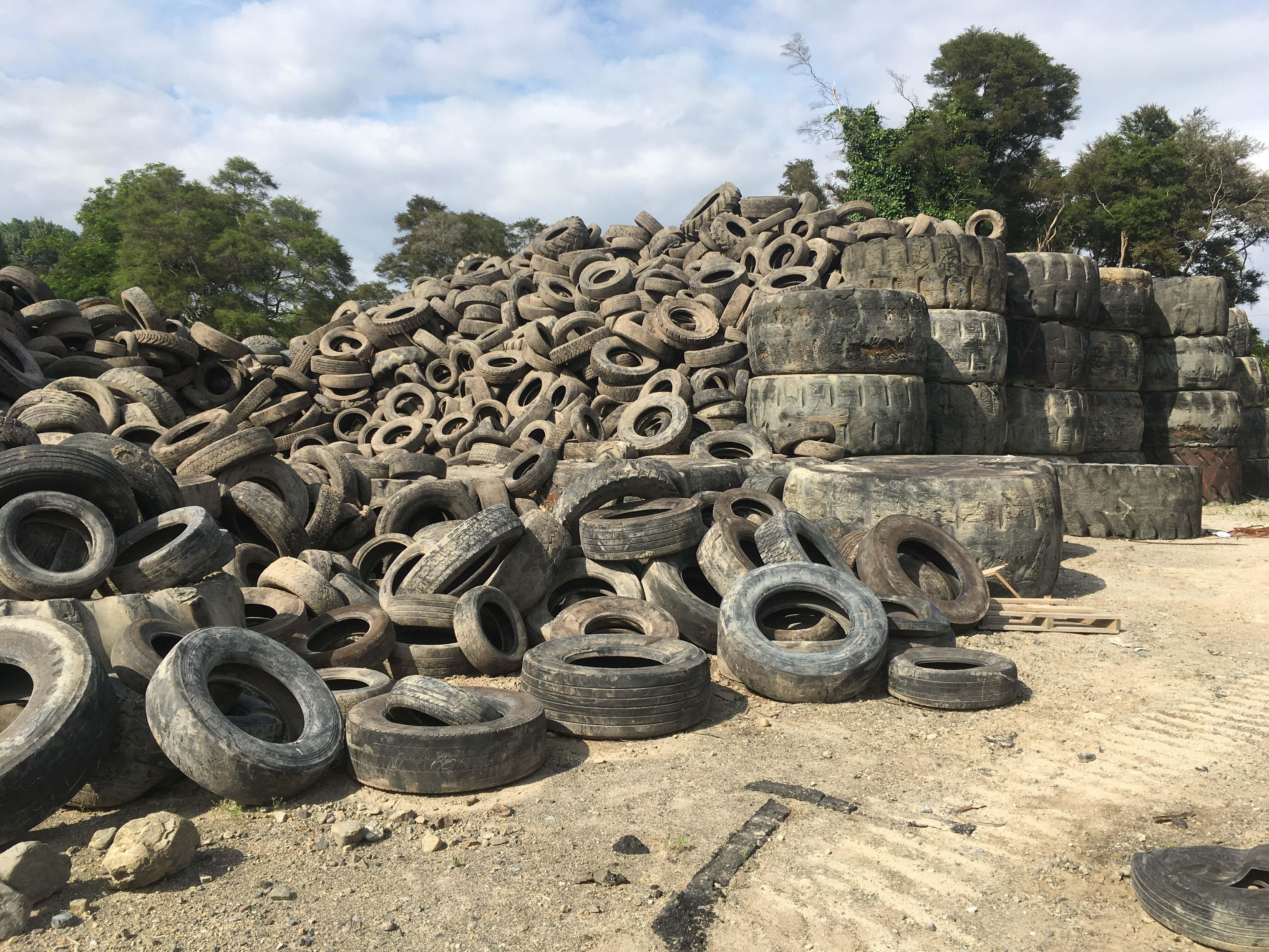 Remaining tyres at Kawerau site